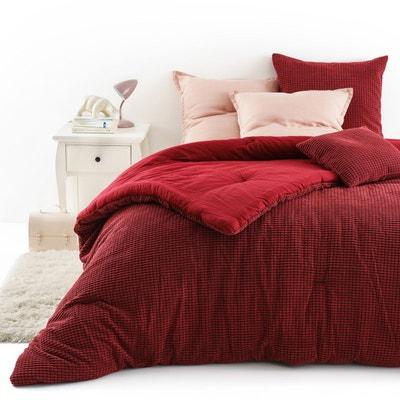 jete de lit rouge la redoute. Black Bedroom Furniture Sets. Home Design Ideas