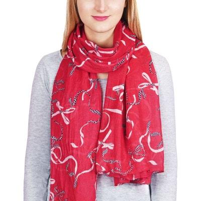 Foulard mousseline rouge femme en solde   La Redoute efcfdbb4576