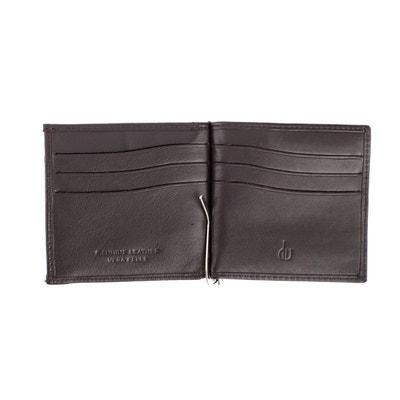 321a13aebc4 Portefeuille à pince pour homme en cuir véritable porte-monnaie et fentes  pour cartes de
