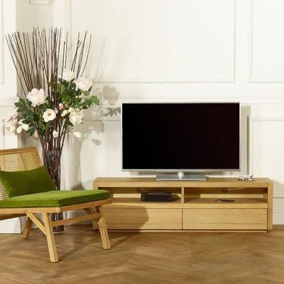 meuble tv chene massif huile la redoute. Black Bedroom Furniture Sets. Home Design Ideas