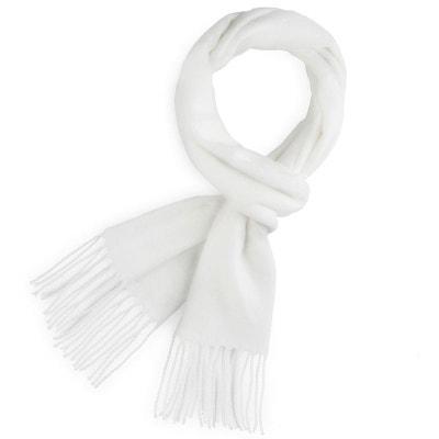 0d35e1238f0 Echarpe FELY Blanc uni - Fabriqué en France QUALICOQ