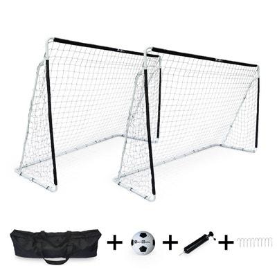 c614402b34f9b 2 cages de football Eden taille L en acier 300 x 200 cm avec ballon