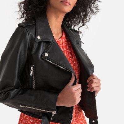 a4de57195a3 Блузон кожаный в байкерском стиле Блузон кожаный в байкерском стиле LA  REDOUTE COLLECTIONS