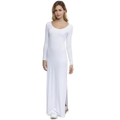 f971b2d46b6 Robe longue col rond manches longues en modal ECLIPSE Robe longue col rond manches  longues en