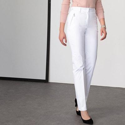 Pantalon droit blanc femme | La Redoute