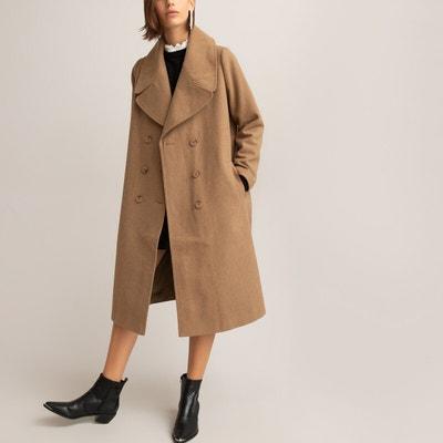 Manteau long marron femme | La Redoute