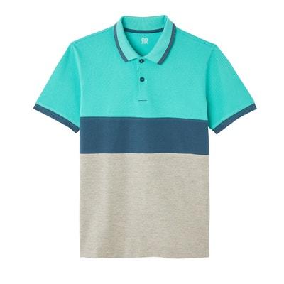 2faba5f655 Polo en coton piqué, tricolore Polo en coton piqué, tricolore LA REDOUTE  COLLECTIONS