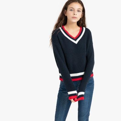 Trui met V-hals in dik tricot 10-18 jaar Trui met V-hals in dik tricot 10-18 jaar LA REDOUTE COLLECTIONS