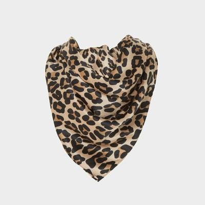 Foulard à motif léopard en soie - LILKS DUNE LONDON 01c03a1128b6