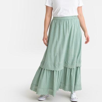 2df82866828 Layered Scalloped Maxi Skirt Layered Scalloped Maxi Skirt CASTALUNA PLUS  SIZE