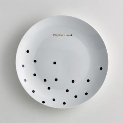 Set van 4 platte borden in porselein, Kubler Set van 4 platte borden in porselein, Kubler LA REDOUTE INTERIEURS