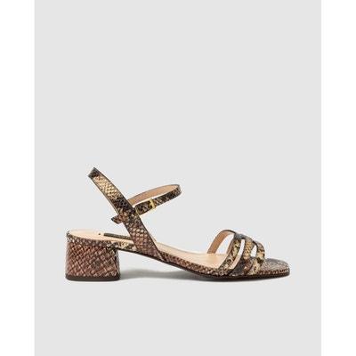 Sandales à haut talon en cuir demetikin python Jonak | La
