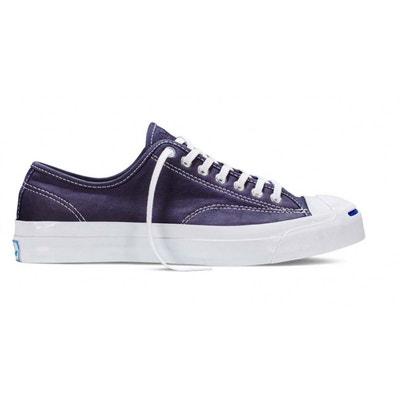 converse sneakers cuir bleu