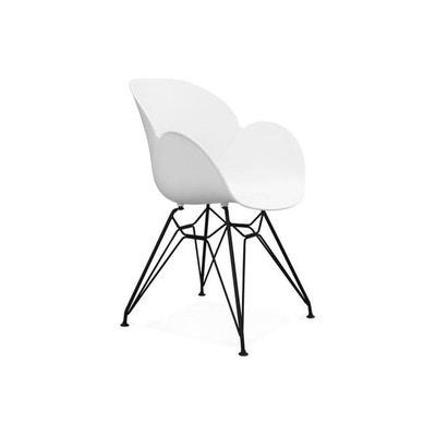 Chaise Design En Plastique Blanc EDEN DECLIKDECO
