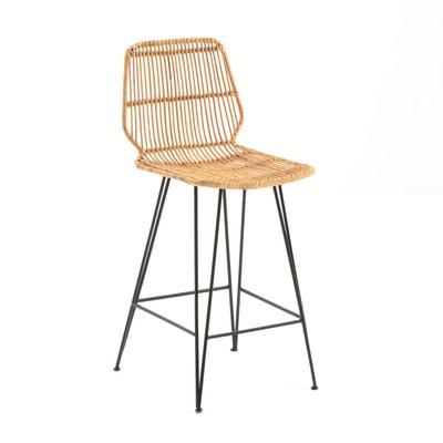 chaise de bar mi haute velour