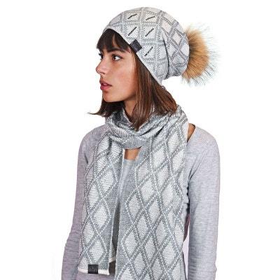 ee7860c7e060 Echarpe et bonnet Joia Gris - Fabriqué en europe Echarpe et bonnet Joia  Gris - Fabriqué