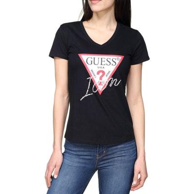 4d3239294095 Tee Shirt col V GUESS