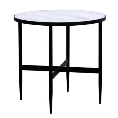 Table basse ronde Alaska en verre effet marbre et 50 cm Table basse ronde  Alaska en b57cd06ef665