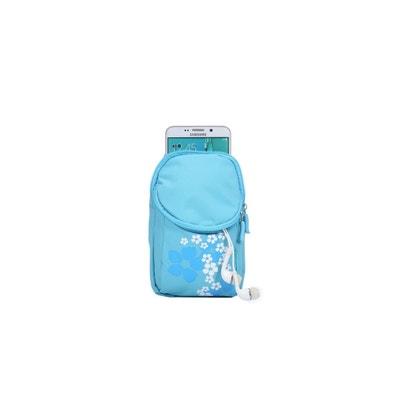468032a870c4 Petite Pochette Ceinture Bleue Motifs Fleurs (17x10x2cm) Petite Pochette  Ceinture Bleue Motifs Fleurs (