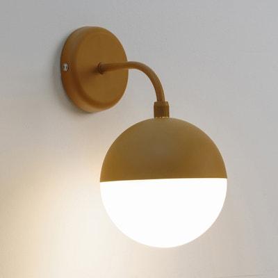 Wandlamp in metaal en opaline Chupa Wandlamp in metaal en opaline Chupa LA REDOUTE INTERIEURS