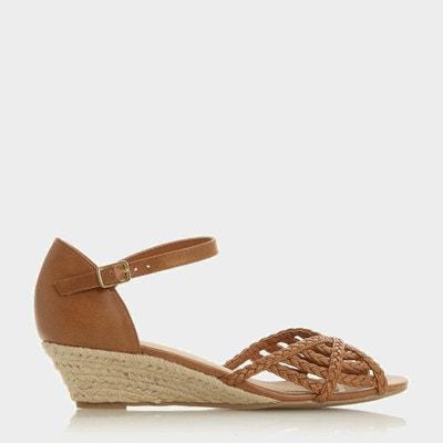 d3592c099239 Sandales tressées à petits talons compensés - KEALAN Sandales tressées à petits  talons compensés - KEALAN