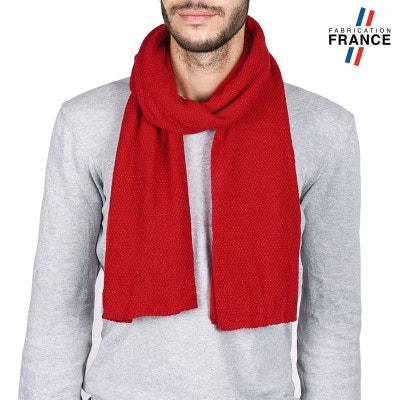 2cb9fb1def29 Echarpe Homme SOLAS Rouge - Fabriqué en France QUALICOQ