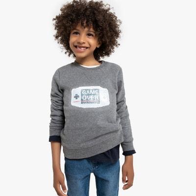 Sweater met ronde hals, motief met magische zecchino's, 5-12 jaar Sweater met ronde hals, motief met magische zecchino's, 5-12 jaar LA REDOUTE COLLECTIONS