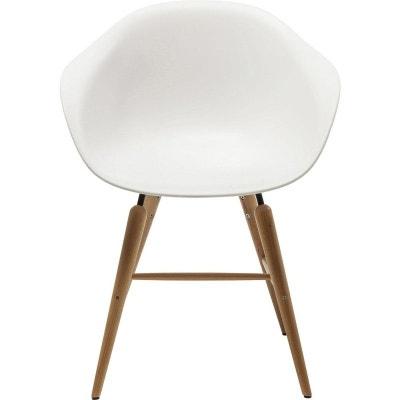 Chaise Avec Accoudoirs Forum Blanc Mat Kare Design