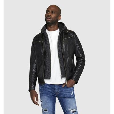 Veste cuir homme tendance sportswear