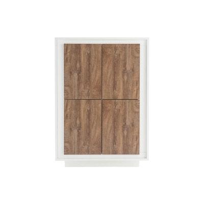 Buffet haut design 4 portes décor ciment LAND MILIBOO d7274e010aeb