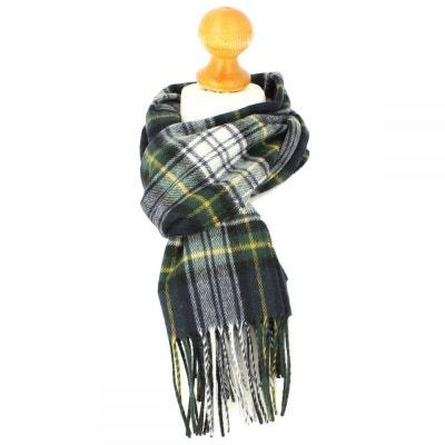 Echarpe carreaux en laine d Australie, Ecosse Vert Echarpe carreaux en  laine d  7dae451d196