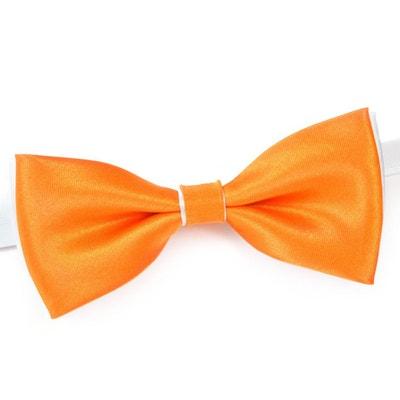 c6b709a65f01c Noeud papillon BeCool Orange sur Blanc - Fabriqué en europe Noeud papillon  BeCool Orange sur Blanc