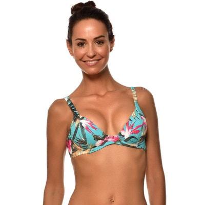 bcf78181dd5a LIVIA. Haut de maillot de bain 2 pieces femme imprime fleuri caraibes Livia  BLONIX ...