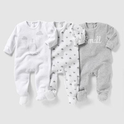 Pyjama velours (lot de 3) 0 mois-3 ans Pyjama velours (lot f358db617b5