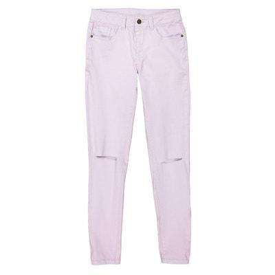 d65275c87e07 Pantaloni slim strappi alle ginocchia 10-16 anni LA REDOUTE COLLECTIONS