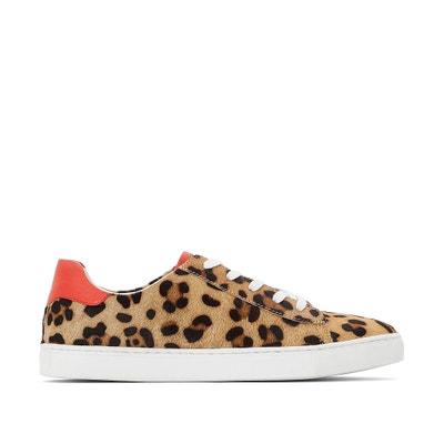 Leren sneakers met luipaard effect Leren sneakers met luipaard effect LA REDOUTE COLLECTIONS
