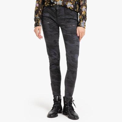 Slim Jeans met camouflage motief Slim Jeans met camouflage motief IKKS