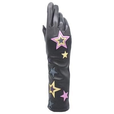 Gants en cuir femme Stars tactile Gants en cuir femme Stars tactile AGNELLE ef3d227c8a7