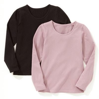 c2bf23e8fb3 Lote de 2 camisetas de manga larga lisa