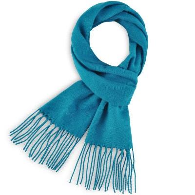 Echarpe FELY Bleu Canard uni - Fabriqué en France QUALICOQ 1a1b73d3506