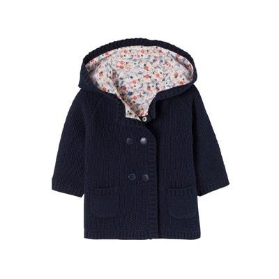 c9f6edbac29b9 Long gilet en tricot doublé bébé fille Long gilet en tricot doublé bébé  fille VERTBAUDET. (0)