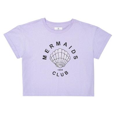 def1ae447648b T-shirt court imprimé Mermaids Club 10-16 ans LA REDOUTE COLLECTIONS