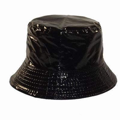 f998b8ad0cded Bob de pluie noir vernis Bob de pluie noir vernis CHAPEAU-TENDANCE