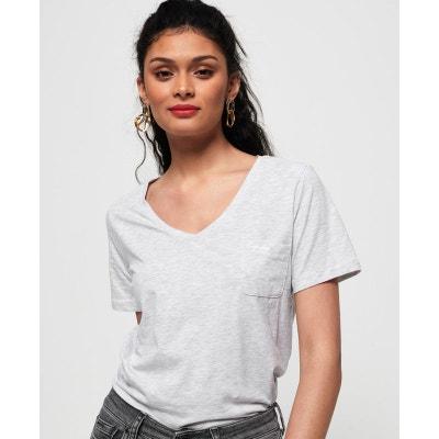 3c994efc7cc T-shirt brodé à col V Essential Orange Label T-shirt brodé à col. SUPERDRY.  T-shirt ...