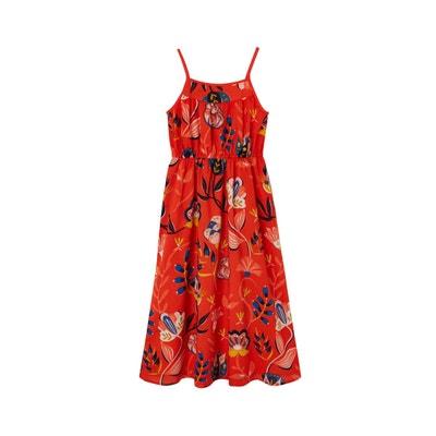 acb86dafc5 Robe longue sans manches imprimée fleurs VERTBAUDET