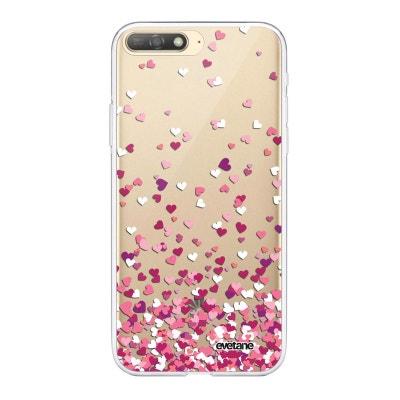 coque huawei y6 2018 marbre rose