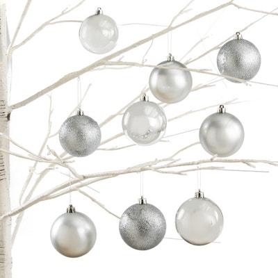 Koffer met 34 zilverkleurige kerstballen, Caspar Koffer met 34 zilverkleurige kerstballen, Caspar LA REDOUTE INTERIEURS