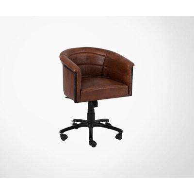 Chaise De Bureau Cuir Cognac MIES