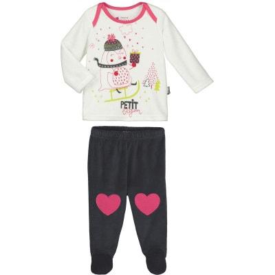 c790da2ccdd Pyjama bébé 2 pièces velours avec pieds Lovesnow Pyjama bébé 2 pièces  velours avec pieds Lovesnow. «