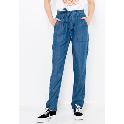 68141dba7454c Pantalon chino fluide lyocell Pantalon chino fluide lyocell CAMAIEU